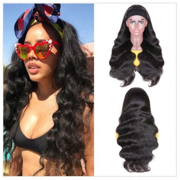 Virgin Brazilian Hair Body Wave Headband Wig